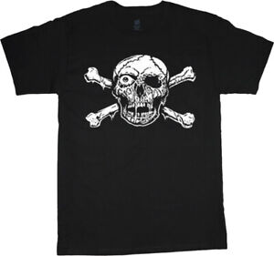 Mens Big and Tall Pirate Skull T-shirt Graphic Tee Mens Clothing Apparel