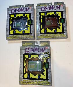 Digimon Bandai Digivice Virtual Pet Monster Lot Glow in The Dark Brick Red Grey