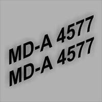 2x Boots Aufkleber Bootskennzeichen Kennzeichen FOIL0004