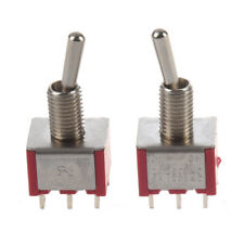 2 Pcs ON/ON 2 Position Double Pole Double Throw Toggle Switch F6