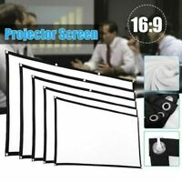 Portable Foldable 16:9 HD Projector Screen Outdoor Home Cinema Theater 3D Movie