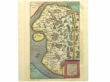 1 Orig.altkolor.Kupferstichk Ortelius 1590 DITHMARSCHEN
