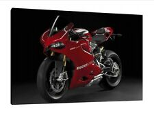 Ducati 1199 Panigale R - 30x20 Inch Canvas Art Work Framed Picture Print