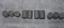 Lot of 10x Graphite Electrode Cylinder ~908gr Length: ~5.4cm Diameter ~3.5cm
