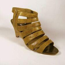 Kaleidoscope Ladies Tan Cork Wedge Gladiator Slave Sandals Shoes Size 5 7 UK 5
