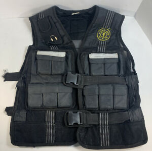 Gold's Gym Weighted Workout Exercise Vest Total Weight 20 LBS, NEEDS NEW STRAPS!