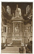 St Paul's Cathedral London, England Real Photo Postcard - Reredos - 1917