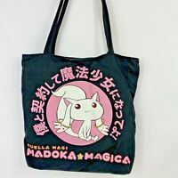 "Madoka magica kyubey Tote Bag Great Entertainment Lined Zippered Pocket 12""x12"""