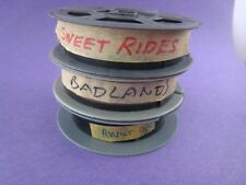 Lot of 3 Vintage Movie trailers...16mm...on reels...Sweet Rides++