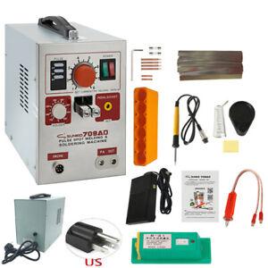 SUNKKO 709AD 110V Battery Pulse Spot Welder for 18650 Soldering Welding Machine