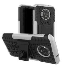pour Motorola Moto G6 Plus Etui Hybride 2 PIÈCES EXTÉRIEUR BLANC