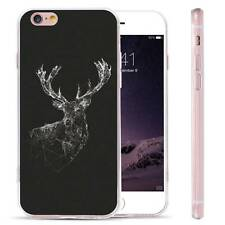 Crystal Deer Christmas Pattern Gel Silicone Case Rubber Cover for Cell Phones