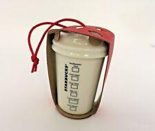 Starbucks Christmas Tree Holiday Ornament WHITE MERMAID LOGO 2014 To-Go Cup NWT