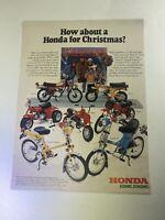 Vintage Honda Off Road Moped Christmas Sales Ad Poster 1978 SHIPS FREE USA