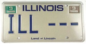 Vintage Illinois 1981 Sample Old License Plate Collector Man Cave Pub Gift