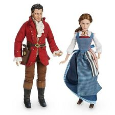 Disney Store Beauty And The Beast Belle & Gaston Film Collection Doll Set NIB