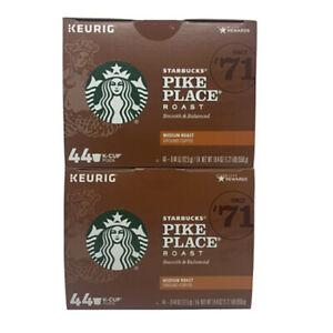 Starbucks Pike Place Medium Roast Coffee, Keurig K-Cups 88 Count EXP: 04-2022