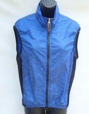 Castelli Women S Blue Reflective Cycling Vest Sleeveless Lightweight Logo b17