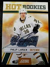 PHILIP LARSEN LOT: ROOKIE CERTIFIED AUTOGRAPH & GAME USED JERSEY - DALLAS STARS