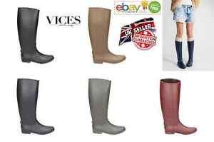 Womens-Ladies Wellington Wellies Rubber Rain Boots Riding Horse Farm Work NEW*