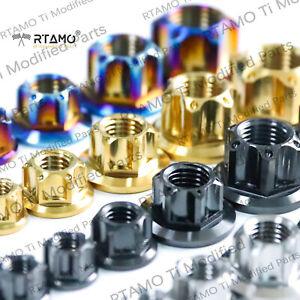 RTAMO | M5 M6 M8 M10 M12 M14 Gr5 Titanium Alloy Hex Flange Special Spec Pot Nuts