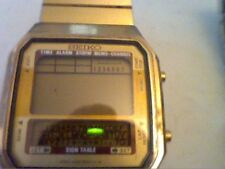 VINTAGE SEIKO SIGN TABLE MEMO CHANNEL LCD WATCH 4U2FIX
