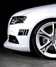 Audi A3 A4 A5 A6 A8 S4 S5 S6 RS4 Q3 Q5 Q7 TT S-Line Decal sticker emblem PAIR B