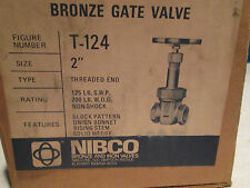 """NIBCO GATE VALVE #T-124, 2"""", 125 SWP, 200 WOG (NEW)"""