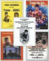 Mike Tyson Program Cover 5 Bonus Trading Card Set FREE UK POSTAGE