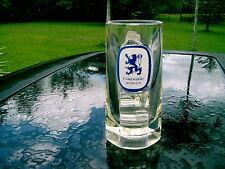 """LOWENBRAU  MUNICH  BEER GLASS  MUG  WITH  LOGO SMALL ! 6.5"""" logo on upper half"""