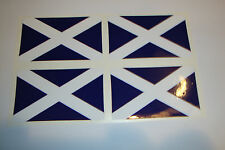 4 Mini bandera escocesa Casco Para Bicicleta parachoques OIM Tt Racing bate de cricket pegatinas del Reino Unido