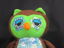 FLOWER EYES DAISIES BROWN GREEN OWL 2010 PLUSH STUFFED ANIMAL SOFT LOVEY TOY