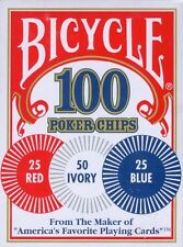 Bicycle 100x 2 Gram poker CHIPS  Standard Index Squatty Box - game texas hold em