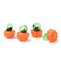 20x Handmade Lampwork Glass Pumpkin Charms Halloween Mini Dangle Pendant 14~16mm