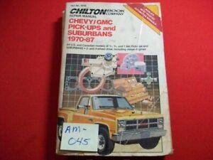 1970-87 CHEVROLET/GMC PICK-UPS & SUBURBAN -REPAIR, TUNE-UP & MAINTENANCE MANUAL