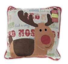 Country Club Christmas Design Filled Tapestry Scatter Cushion 43x43cm