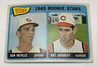 1965 Topps # 398 Dan Neville Art Shamsky Rookie Stars Card Cincinnati Reds RC