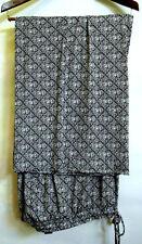 Lane Bryant Plus Size 26/ 28 Geometric Wide Leg Pants Elastic Waist + String New