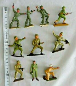 Lot soldats plastique 2ème guerre mondiale dont 1 Starlux et 1 Britains
