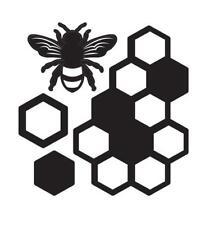Darice Craft Dies HONEYCOMB & BEE 4 pieces Die Cut Embossing Stencil