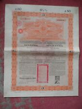 More details for rare chinese imperial government bond 1898 £50 in top quality condition