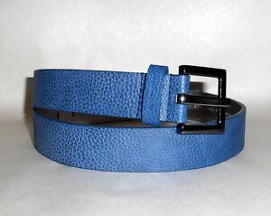 Calvin Klein Jeans Synthetic Leather Upper Blue Textured Women's Waist Belt Sz S