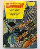 WORLDS of TOMORROW SAM DELANY FEBRUARY 1967 COVER by MORROW VINTAGE SCI FI