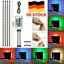 4x RGB TV Backlight LED Hintergrund-Beleuchtung USB Licht-Band Stripes Streifen
