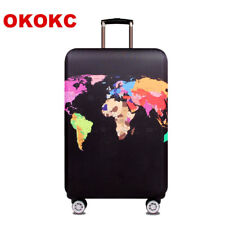World Map Elastic Thick Luggage Cover for Trunk Case Apply to 18''-28'' Suitcase