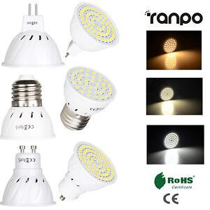 3W 5W 7W LED Spot Light Bulbs GU10 MR16 E27 2835 SMD 220V 12V 24V Lamp  Bright