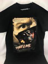 Rock Rebel They Live horror film Poster Collage Men Tee Shirt Sz M Black HTF