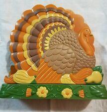 Vintage Avon Plastic Turkey Napkin Holder Thanksgiving Farm Decoration Table Fun