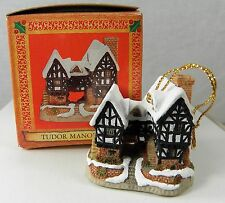 David Winter Cottage Christmas Ornament Tudor Manor House John Hine Studios Nib