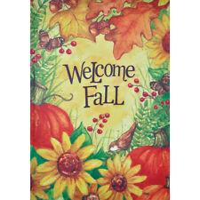 "Welcome Fall 12.5"" X 18"" Garden Flag 27-2975-209 Flip It! Rain Or Shine Season"